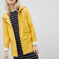 Only Hooded Raincoat at asos.com