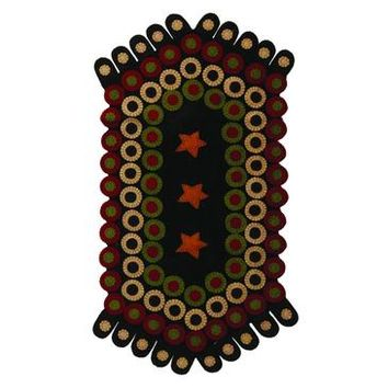 Homespice Star Stream Applique Octagon Runner