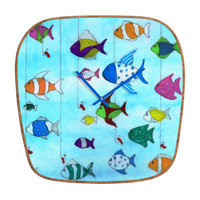 Rosie Brown Tropical Fishing Modern Clock