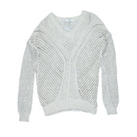 Jack Womens Crochet Open Stitch Pullover Sweater