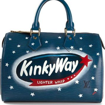 Rewind Vintage Affairs Small 'milky Way' Printed Bowling Bag