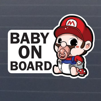 Baby On Board Waterproof Jdm Car Stickers on Car Styling Laptop Sticker Decal Motorcycle Skateboard Doodle Stickers for Cars