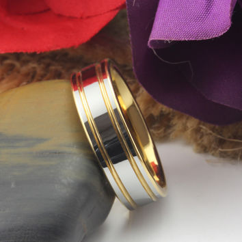 10.5 Free shipping Size 4-12 6mm/4mm Mens Womens Couple weeding ring Tungsten Carbide Ring Aniversary Engagement Ring