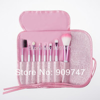 Hot Selling 8 pcs Professional Pink Women Makeup Brush Set Cosmetic Brushes for Face And Eye Shadow Lady's Gift free shipping