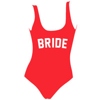 Red BRIDE One Piece Swimsuit