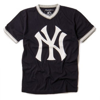 New York Yankees MLB Men's Eephus T-Shirt by Wright & Ditson - Navy (Small)