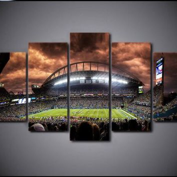 5 aircraft, full square 5D DIY diamond painting Football competition venue, 3D, diamond embroidery cross stitch, mosaic, sticke