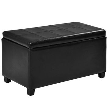Large PU Leather Storage Foot Stool Rest Ottoman The storage ottoman coordinates with any room in your house.