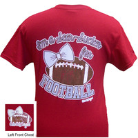 I'm a Seer-Sucker for Football Tee - Cardinal Red
