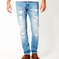 Lee L719 Luke Slim Tapered Jean Summer Worn Blue