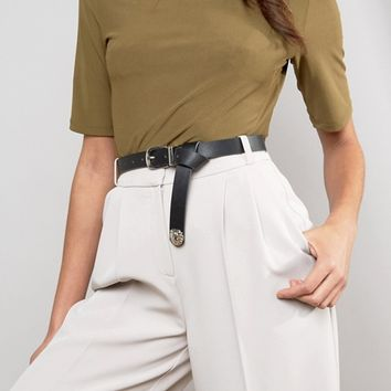 ASOS Lion Tipped End Boyfriend Waist And Hip Belt at asos.com