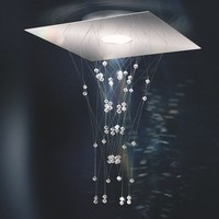LED ceiling lamp with Swarovski crystals ENLACE by Swarovski | design Todd Bracher