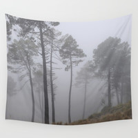 """Lost"". Into the woods Wall Tapestry by Guido Montañés"