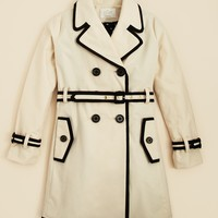 kate spade new york Girls' Two Tone Trench Coat - Sizes S-XL