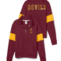 Arizona State University Bling Half-Zip Pullover