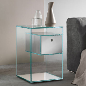 Glass Aesthetic Side Table by Tonelli