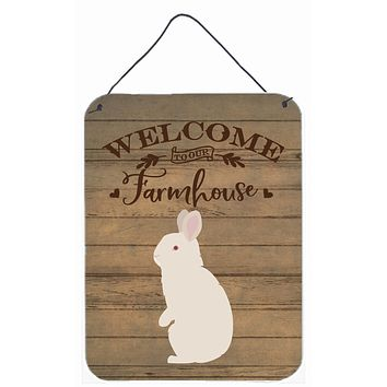 New Zealand White Rabbit Welcome Wall or Door Hanging Prints CK6909DS1216