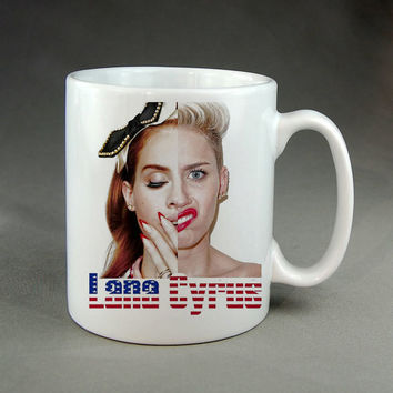 lana del rey miley cyrus,coffee mug,tea mug,ceramic mug