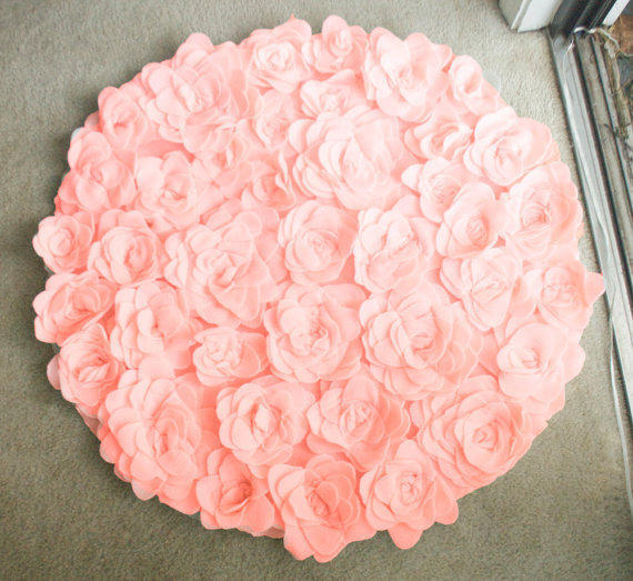 Round Rosette Rug Photo Prop/ Baby From AdrianChristian On
