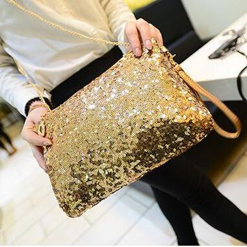 2018 New Dazzling Glitter Sparkling Bling Sequins Evening Party purse Bag Handbag Women Clutch wallet