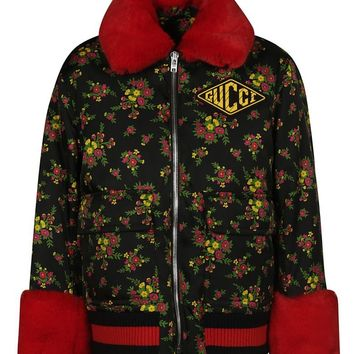 Floral Print Jacket by Gucci