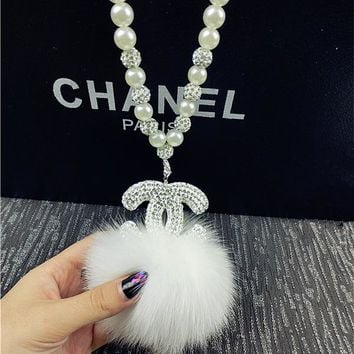 Chanel Fur Pendants Car Ornaments Accessories Car Accessories