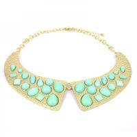 Mint Green Collar Necklace on Luulla