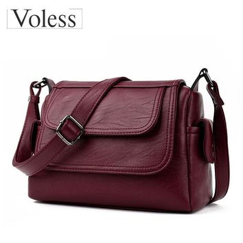 Fashion Woman Bag Leather Crossbody Bags For Women Messenger Bags Female Shoulder Handbag Crossbody Bags For Women Sac Femme