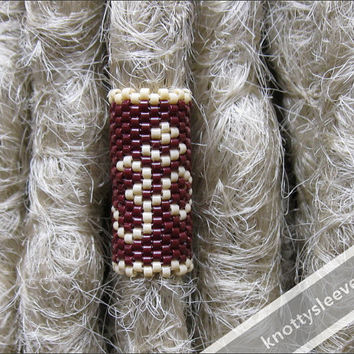 Dread Bead, Dreadlock Accessory, Peyote Stitch, Dread Sleeve, Loc Jewelry, Om