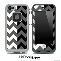 Two Toned Chevron Pattern Dark Gray Skin for the iPhone 5 or 4/4s LifeProof Case