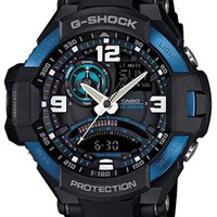 Casio G-Shock GRAVITYMASTER Aviator Watch - Blue & Black - Anti-Magnetic