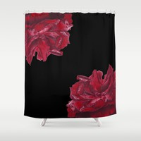 Roses are Red Shower Curtain by drawingsbylam