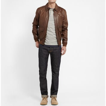 Polo Ralph Lauren - Farrington Leather Bomber Jacket | MR PORTER