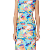 Tahari ASL Floral Sheath Dress