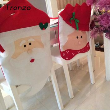 Tronzo Hot Christmas Decorations For Home Chair Cover Santa Claus Navidad Christmas Xmas Noel Decoration Free Shipping