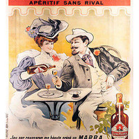 MARRA APERITIF vintage ad POSTER 24X36 OLD FASHIONED collectors
