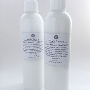Mint & Flowers Conditioner• Hair Conditioner, Natural Hair, Curly Hair, Vegan Conditioner, Natural Haircare