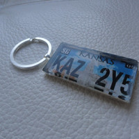 Supernatural Impala License Plate Keychain