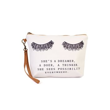 """She's a Dreamer"" Cosmetic Bag"