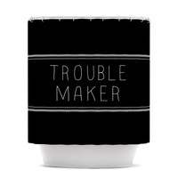 "Skye Zambrana ""Trouble Maker"" Shower Curtain"