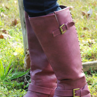 Up All Night Boots: Berry