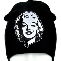 Marilyn Monroe Beanie Alternative Clothing Knit Cap Sexy Pinup