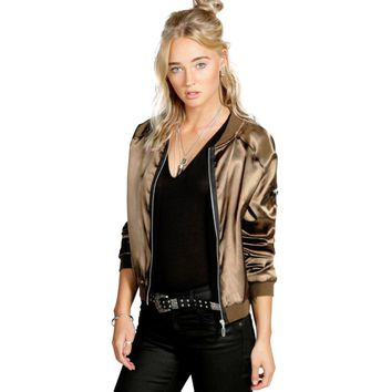 Flight Bomber Jacket For Women