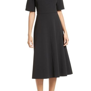 Tibi Crepe Off the Shoulder Midi Dress | Nordstrom