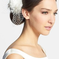 J-Picone 'Brooklyn' Floral Fascinator - Ivory