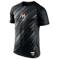 Nike Miami Marlins Pro Combat Dri-FIT Performance Raglan Tee