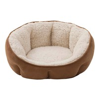 Soft Touch Tufted Tan Euro Cuddler Dog Bed