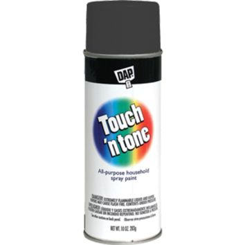 Rust-Oleum 55275830 Touch 'n Tone 10-Ounce Spray Paint, Flat Black