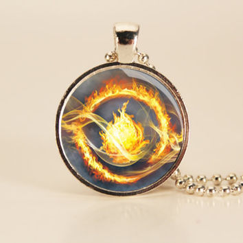 DIVERGENT Book  Art Charm Necklace by TheWhiteSpace on Etsy