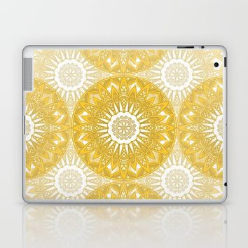 Orange Mandala Laptop & iPad Skin by Stefanie Juliette